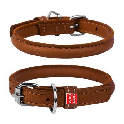 WAUDOG Hundehalsband Leder SOFT Braun Halsumfang: 33-41 cm