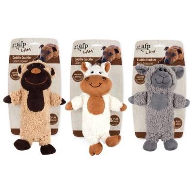 Hunde Kuscheltier Stofftier AFP Lammwolle Kuschel Krachler, Größe:27,5 x 18,5 x 9,7 cm