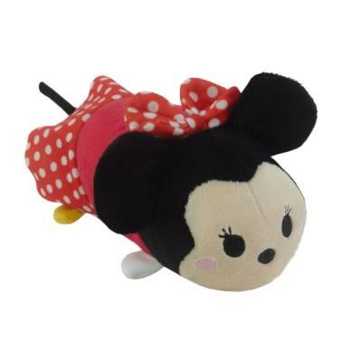 Hunde Kuscheltier Stofftier Disney Tsum Tsum Minnie Maus S, Höhe:7 cm,Länge:16 cm,Breite:7 cm