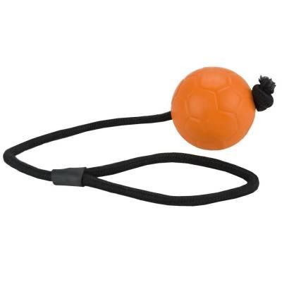 Hunde Spielzeug Ball Dog Kometen Swift-Ball Holland mit Seil, Farbe:Orange,durchmesser:6 cm