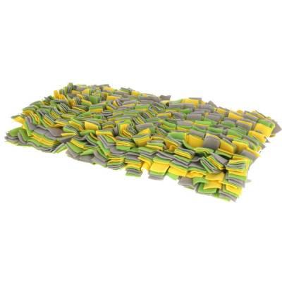 Schnüffelteppich gelbgrün grau 70x50cm