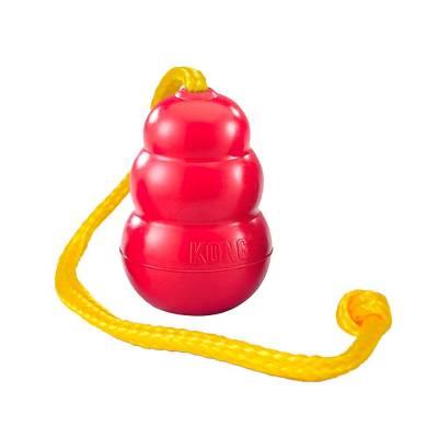 Hunde Spielzeug Kong Classic mit Seil XL, Länge:62,5 cm,Konglänge:120 mm