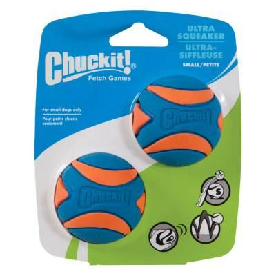 Hunde Spielzeug Ball Chuckit Ultra-Quietsche-Kugel S im 2er-Pack,Durchmesser:5 cm