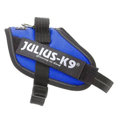 Hunde Geschirr Julius-K9 Blau, Brustumfang 96-138 cm