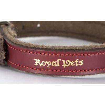 Halsband Royal Pets Hundehalsband Rot-Braun