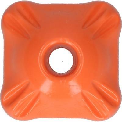 Hunde Spielzeug Jolly Flex-n-Chew Squarble Orange L, Maße:80 mm x 80 mm