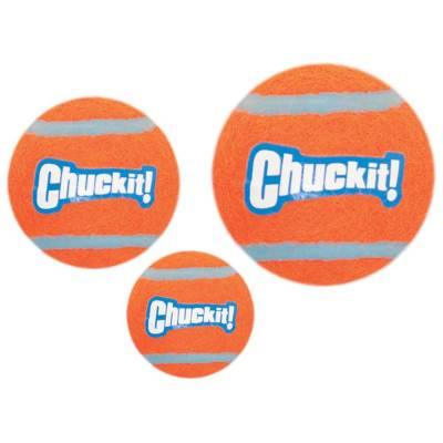 Hunde Spielzeug Ball Chuckit Tennisball M 4 Stück, Länge:6,5 cm,Breite:14,90 mm