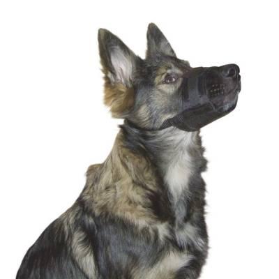 Nylon Maulkorb Hundemaulkorb Schwarz versch. Größen