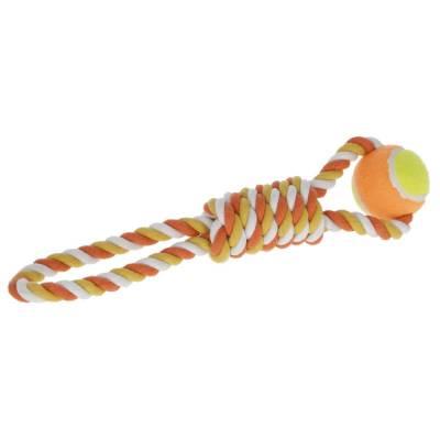Ball am Tau 37cm orange Baumwolle