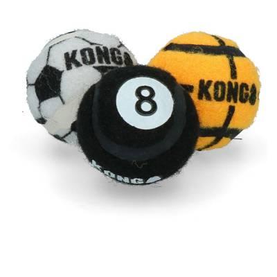 Hunde Spielzeug Ball Kong Sport Bälle XS, Länge:110 mm,Breite:5 cm,Höhe:180 mm,Inhalt:3 Stück