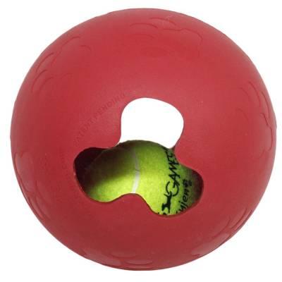 Hunde Spielzeugball Hundespielball mit Kugel, Durchmesser: 12.7 cm