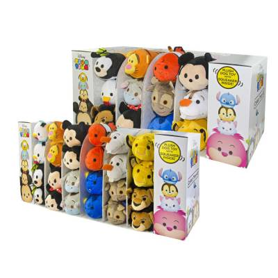 Hunde Kuscheltier Stofftier Disney Tsum Tsum Display inkl. 24 Stk. S, Breite:190 mm