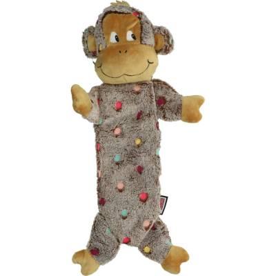 Hunde Spielzeug Kong Low mit Knister und Quietschgeräuschen Affe, Länge:40 cm