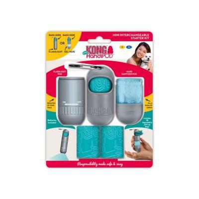 Mini Kotbeutelhalter Starter Set mit Handreinigunsgel und Taschenlampe