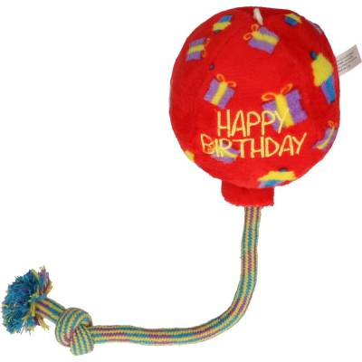 Hunde Spielzeug Kong Occasions Luftballon M, Farbe:Rot