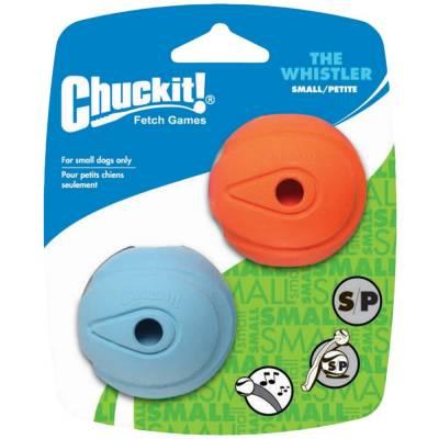 Hunde Spielzeug Ball Chuckit The Whistler S im 2er-Pack, Breite:11,3 cm