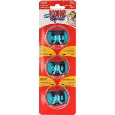 Holland Animal Care | Kong | Quietscher | Blau | Rot | 5 cm | Ball | S