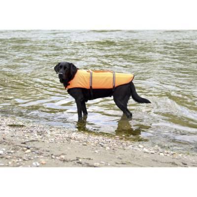 Hunde-Schwimmweste orange Rückenlänge versch. Modelle