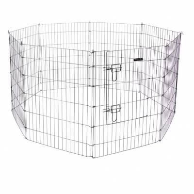 Kleintierkäfig 78x57 cm - 8 Gitter + Tür -Welpen- und Kleintiergehege