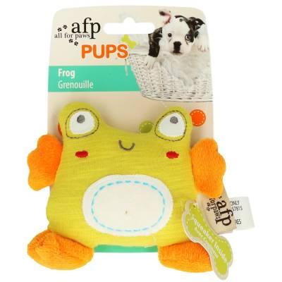 Hunde Kuscheltier Stofftier AFP Pups Frosch, Maße:10 x 12 x 5 cm