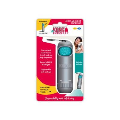 Holland Animal Care | Taschenlampe | Spender | Kotbeutel | Grau | Kunststoff | Oval