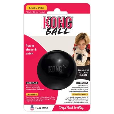 Holland Animal Care   Kong   Futterball   Apportieren   Intelligenz   Schwarz   Kautschuk   6,3 cm