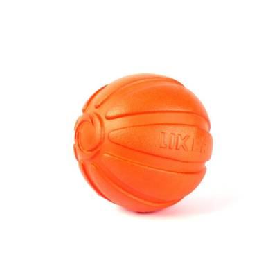 Hundeball Orange 5 cm Wurfball Hund