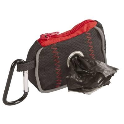 Tasche für Kotbeutel Schwarzrot 8x55x4cm