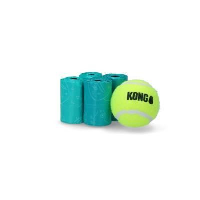 Hunde Ballwerfer mit Kotbeutelhalter Kong, Inhalt:4 Rollen