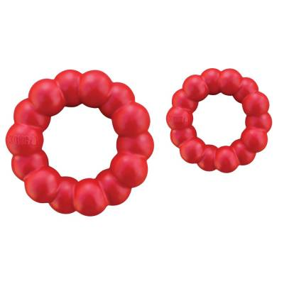 Holland Animal Care | Kong | Kauverhalten | Kauspielzeug | Rot | Kautschuk | 13 cm | Ring | XL