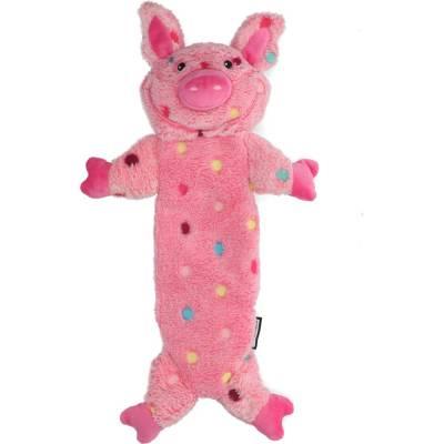 Hunde Spielzeug Kong Low mit Knister und Quietschgeräuschen Schwein, Länge:40 cm