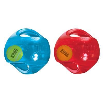 Hundespielzeug Kong Jumbler Kugel M 2-in-1-Ball für doppelten Spielspß Durchmesser: 17,78