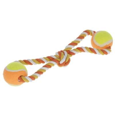 Ziehspielzeug Bälle 34cm orange Baumwolle